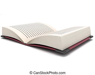 three dimensional open book - isolated three dimensional...