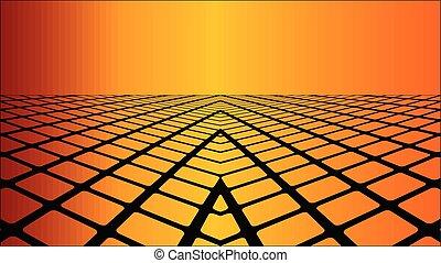 Three dimensional orange background - Illustration,...