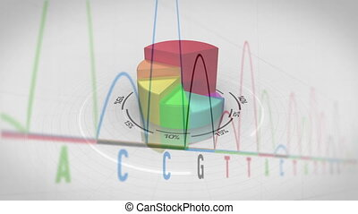 Three dimensional pie chart growing