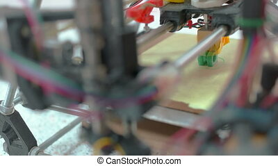 Three Dimensional Printer - Detailed top up view at 3D...