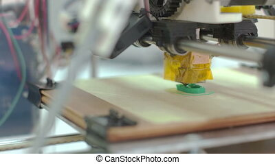 Three Dimensional Printer - Detailed side view of 3D printer...