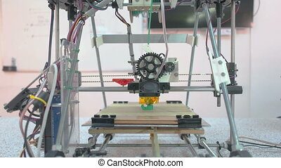Three Dimensional Printer - Whole view at open source...