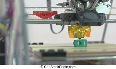 Three Dimensional Printer - 3D printer creating spare parts...