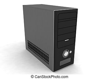 three dimensional processor on an isolated background