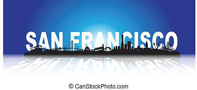Three-dimensional San Francisco Skyline