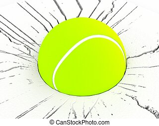 three dimensional tennis ball - three dimensional view of...