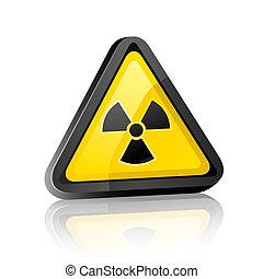 Three-dimensional warning sign