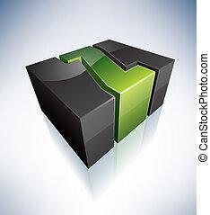 Three-dimensional Z Letter - 3D Z green logo letter (part of...