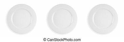 Three dinner plates