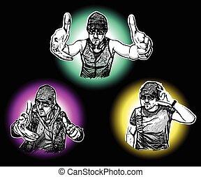 Three DJs