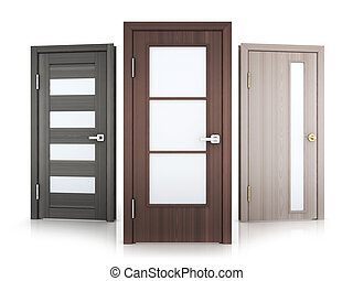 Three doors row