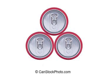 three drink cans