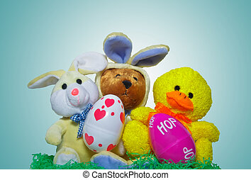 Three Easter Friends