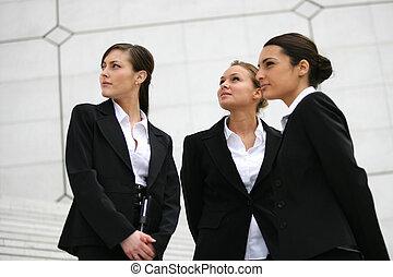 Three elegant businesswomen