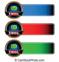 Three email icons