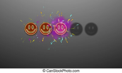 Three Emoticons Rating Image