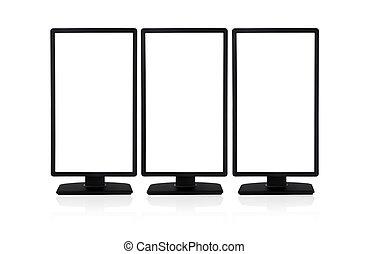 empty computer monitor