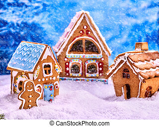 Three fabulous gingerbread house for Christmas.