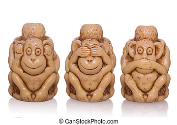 three-faced, speelbal, aap
