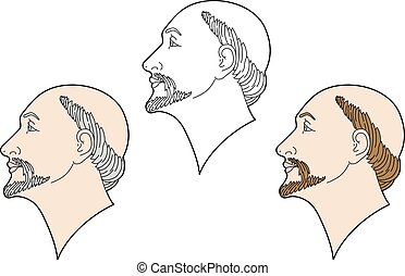 Three faces of men