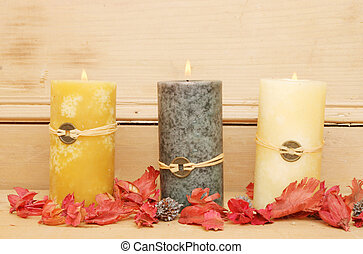 Three Feng Shui candles