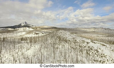 Three Fingered Jack distinctive shape Pleistocene volcano...