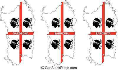 three flags of sardinia