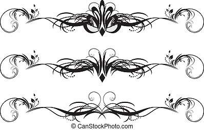 Three floral patterns for design