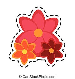 three flowers icon image
