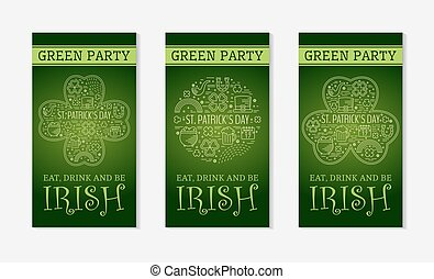 Three flyers for St. Patricks day.