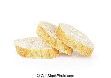 three french baguette slices