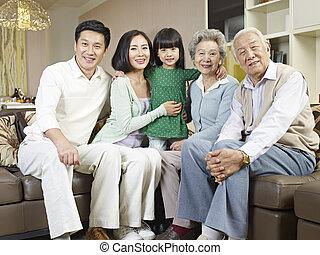three-generation, οικογένεια