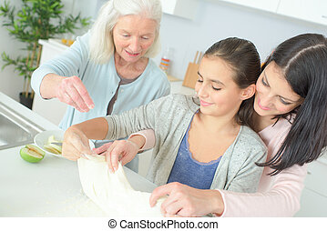 three generations cooking