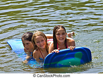 Three Girls on a Float