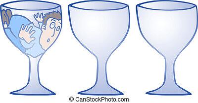 Three glass