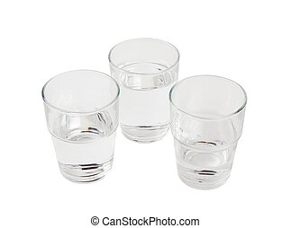 Three glasses of water