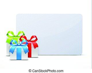 Three glossy gift boxes
