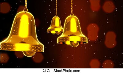 Three Golden Bells Slinged - Computer-rendered animation for...