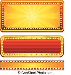 casino sign - three golden casino sign
