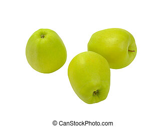 Three green apples