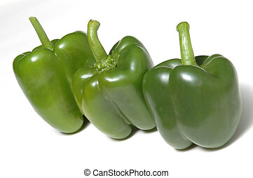 three green peppers