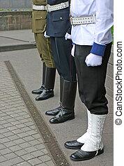 Three guards