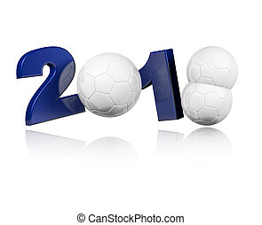 Three Handball balls 2018 Design with a white Background