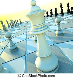 three-handed, ajedrez