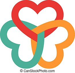 Three hearts interlaced logo