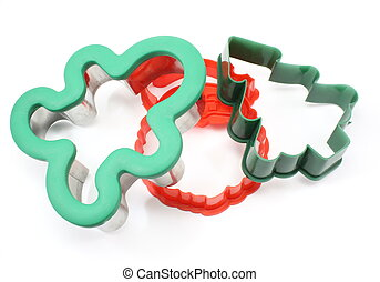 Three Holiday Cookie Cutters - Three holiday cookie cutters....