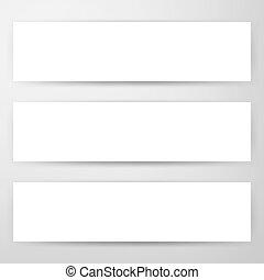 Three Horizontal Web Banners Mockup