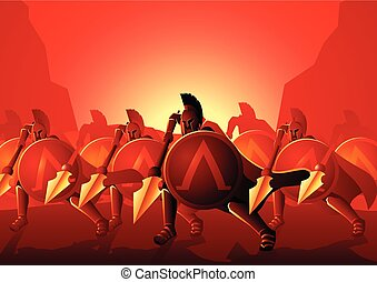 Three Hundred Spartans at the Battle of Thermopylae