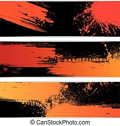 Three ink blots banners