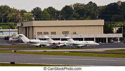 Three Jets at Hangar